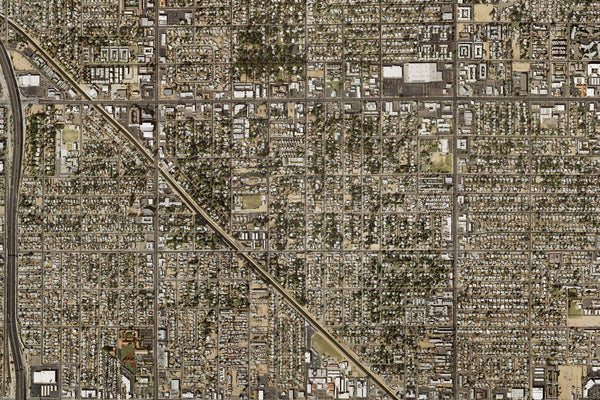 Phoenix Arizona Satellite Poster Map