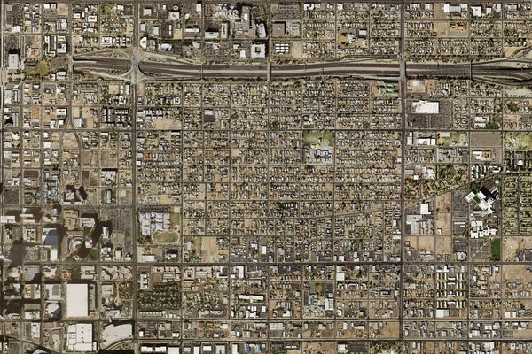 Phoenix Arizona From Space Satellite Poster Map