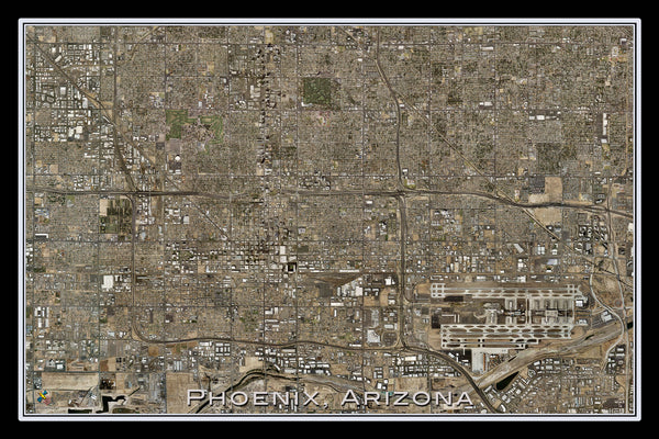 Phoenix Arizona From Space Satellite Poster Map - TerraPrints.com