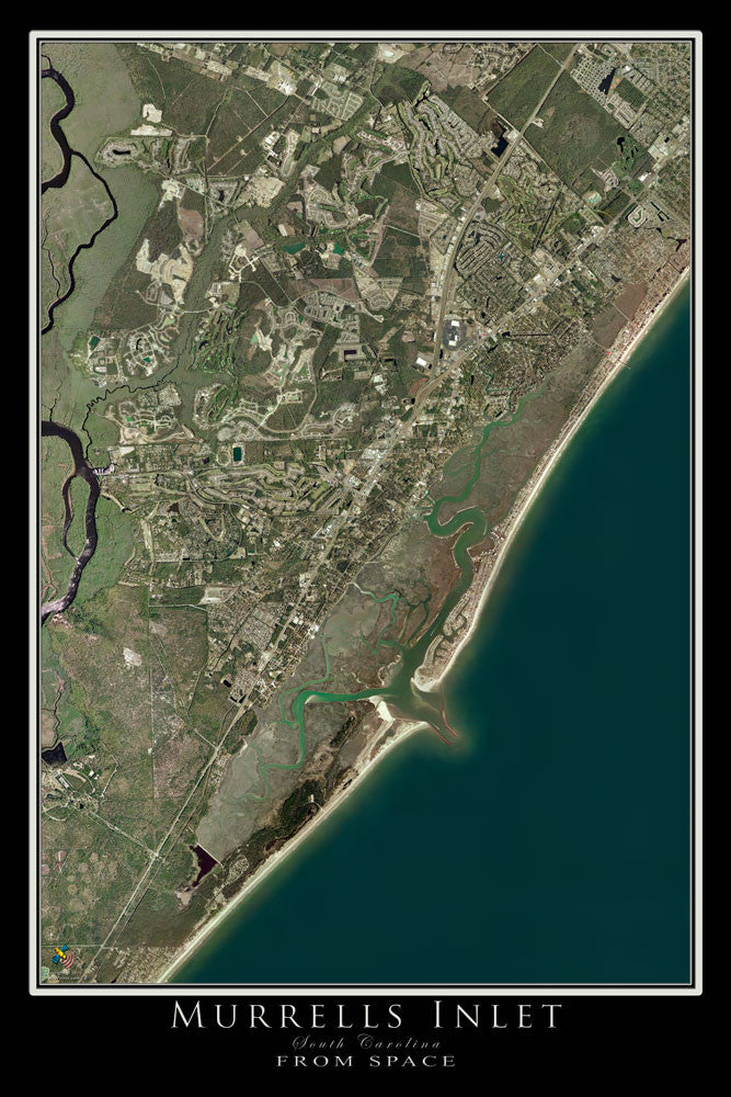 Murrells Inlet South Carolina Satellite Poster Map - TerraPrints.com