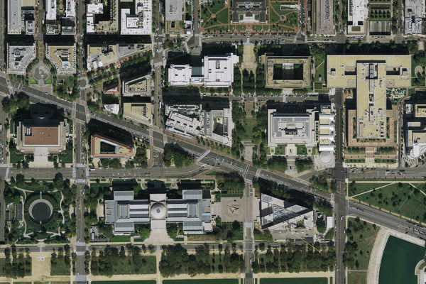 Washington DC - The National Mall From Space Satellite Poster Map