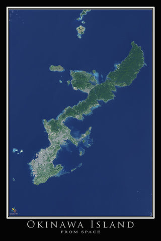 Okinawa Island Japan Poster Map - TerraPrints.com