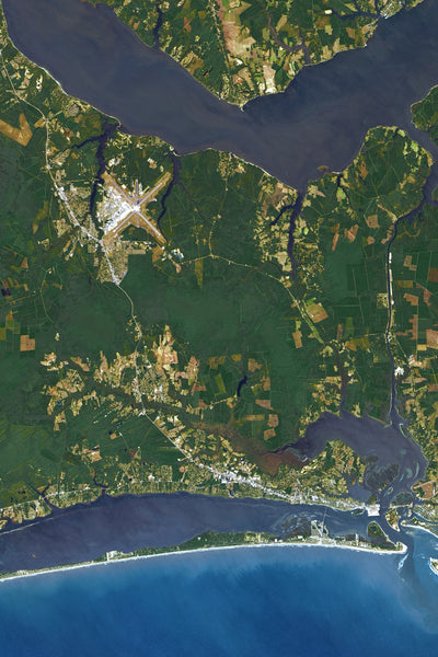 Outer Banks of North Carolina Satellite Map Jigsaw Puzzle