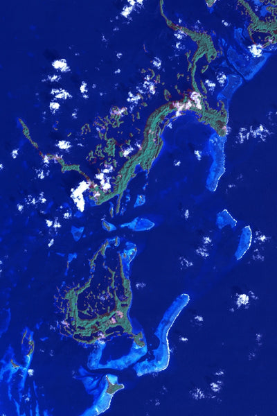 Republic Of Palau From Space Satellite Poster Map