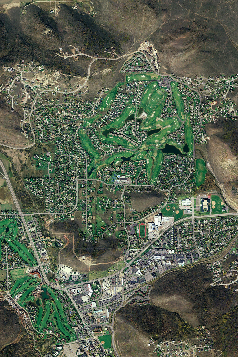 The Park City Utah Satellite Poster Map