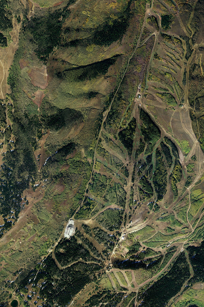 Park City Utah From Space Satellite Poster Map