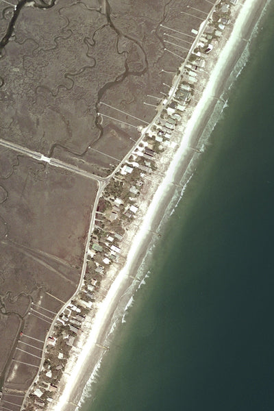 Pawleys Island South Carolina From Space Satellite Poster Map