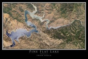 The Pine Flat Lake California Satellite Poster Map