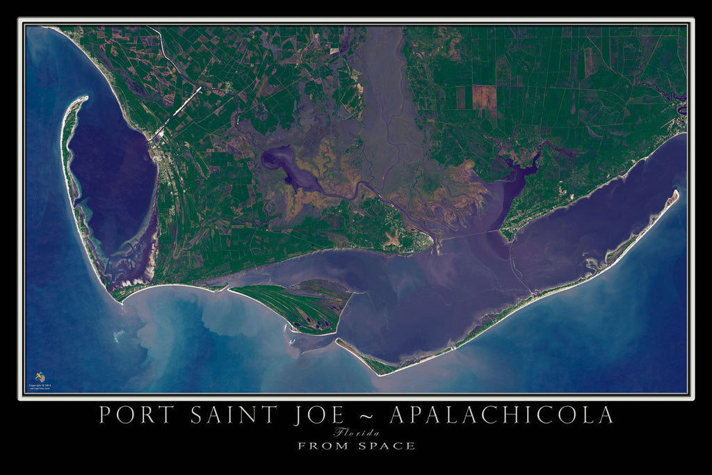 Apalachicola Florida Map.Port Saint Joe Apalachicola Florida Satellite Poster Map