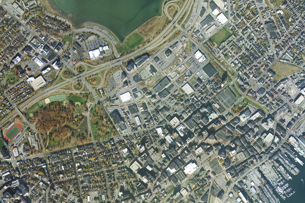 Portland Maine From Space Satellite Poster Map