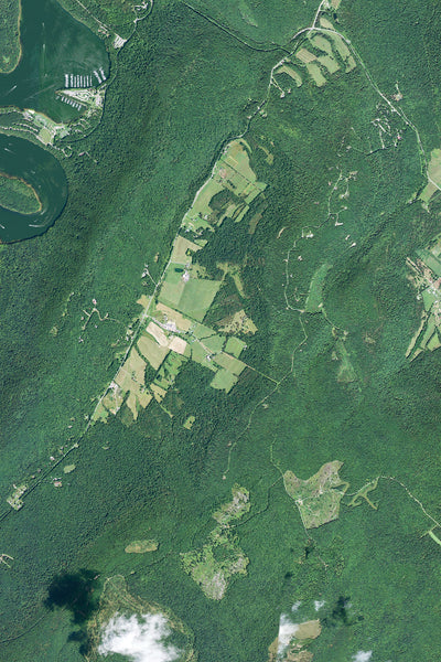 Raystown Lake Pennsylvania From Space Satellite Poster Map