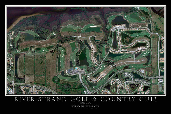River Strand Golf Bradenton Florida Satellite Poster Map
