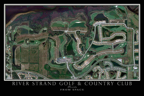 River Strand Golf Course Bradenton Florida Satellite Poster Map - TerraPrints.com