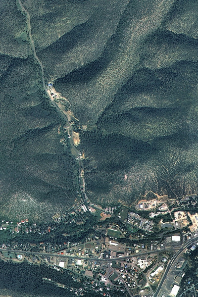 Ruidoso New Mexico From Space Satellite Poster Map