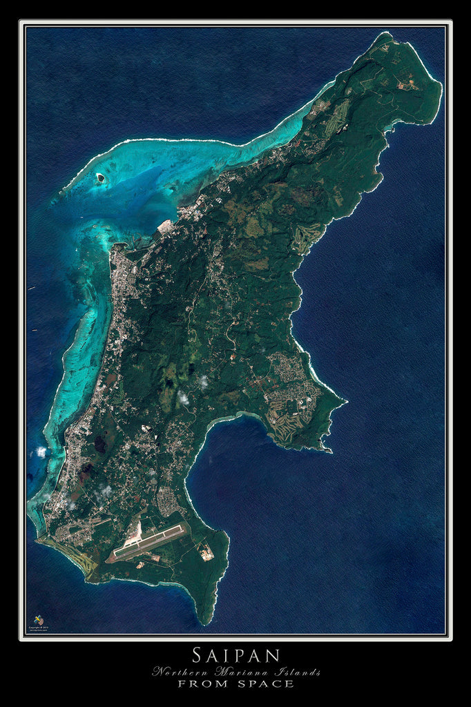 Saipan Northern Mariana Islands Satellite Map