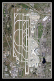 The Seattle-Tacoma Intl Airport Washington Satellite Poster Map