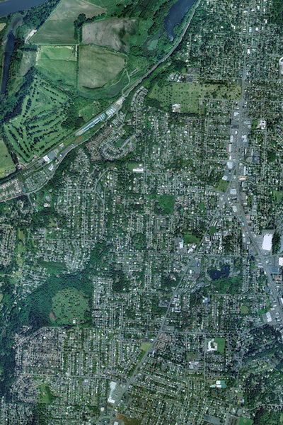 Salem Oregon From Space Satellite Poster Map