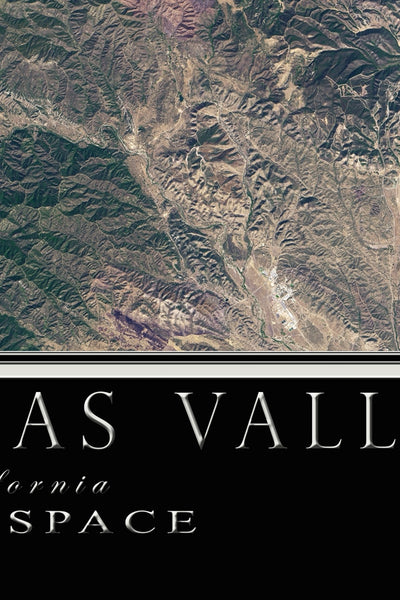 Salinas Valley California From Space Satellite Poster Map