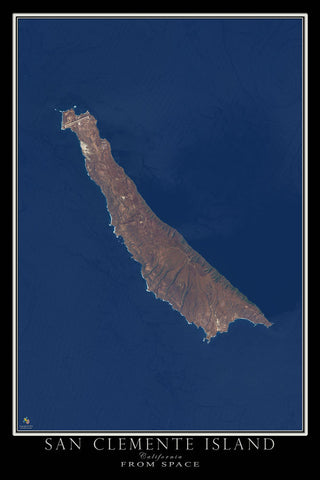 San Clemente Island California Satellite Poster Map by TerraPrints.com. Available in multiple sizes with free shipping in the USA.