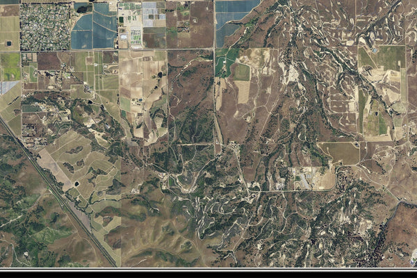 Santa Maria California From Space Satellite Poster Map