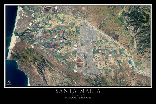 santa maria california satellite poster map  u2014 aerial views