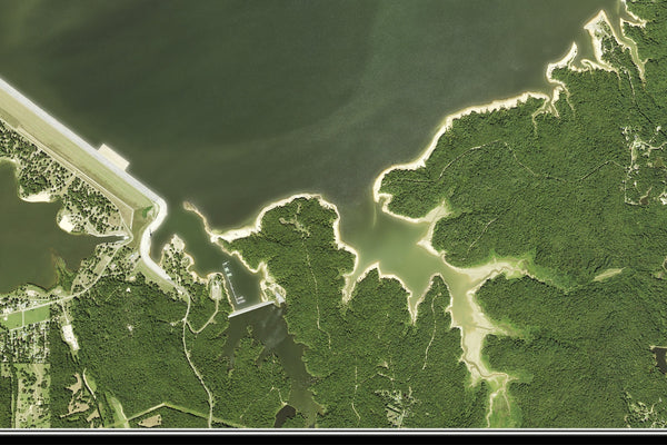 Sardis Lake Mississippi From Space Satellite Poster Map