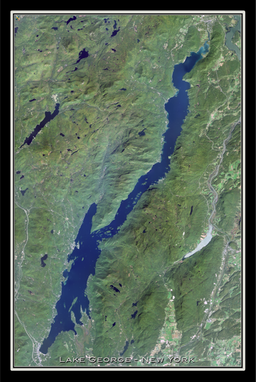 The Lake George New York Satellite Poster Map