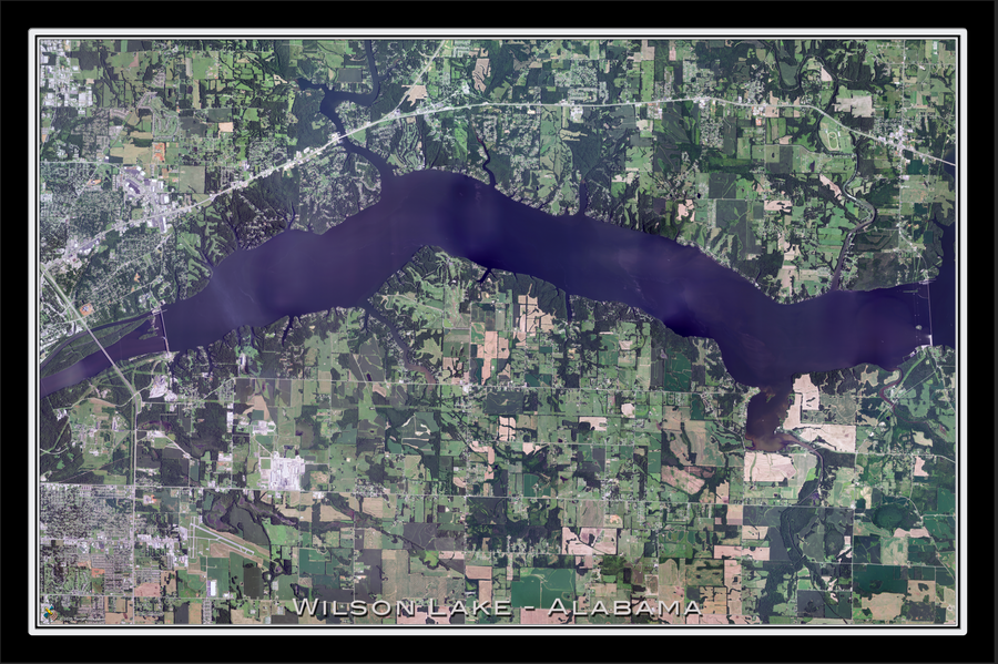 The Wilson Lake Alabama Satellite Poster Map
