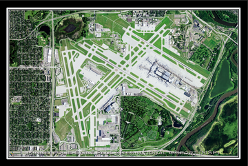 The Minneapolis-Saint Paul Minnesota International Airport Satellite Map