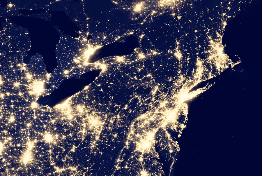 City Lights of the United States