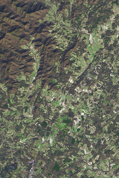 Shenandoah National Park Virginia Satellite Poster Map
