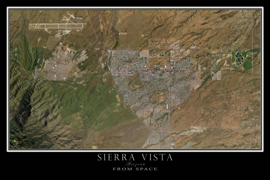 Sierra Vista Arizona Satellite Poster Map Terraprints Com