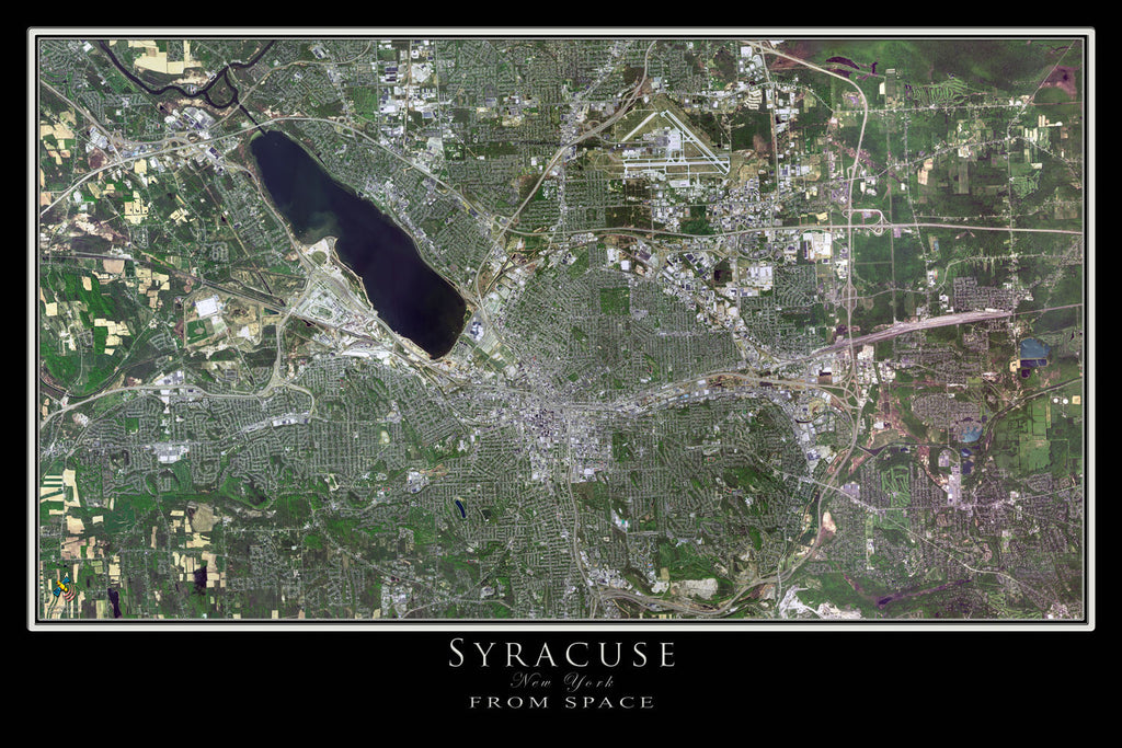 Syracuse New York From Space Satellite Poster Map - TerraPrints.com