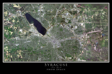 The Syracuse New York Satellite Poster Map