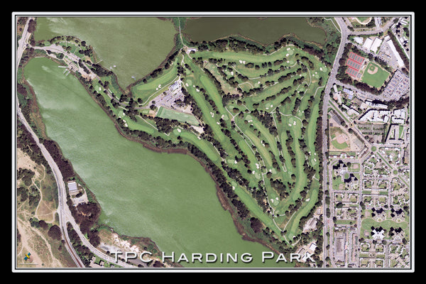 TPC Harding Park Golf Course California Satellite Poster Map