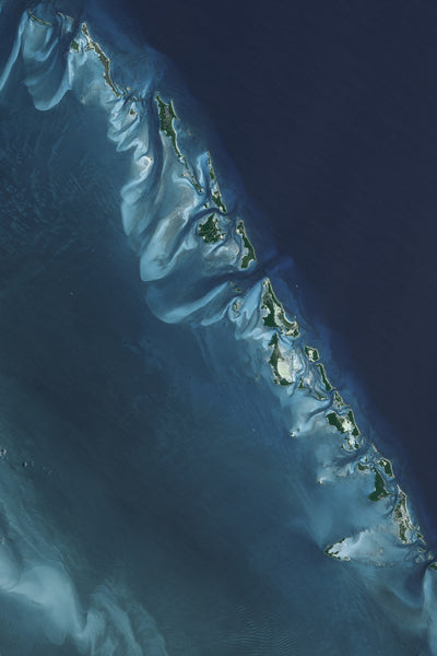 The Exumas Bahamas Satellite Poster Map