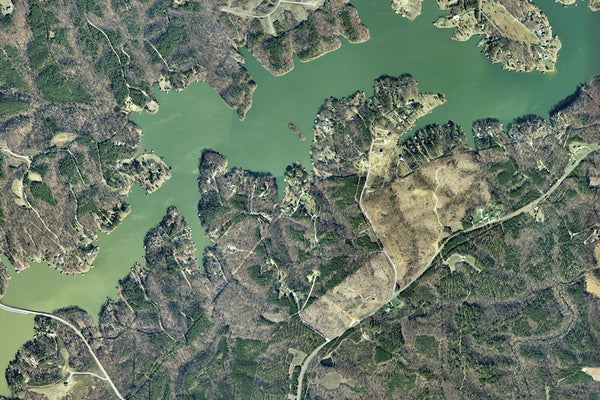 The Hyco Reservoir North Carolina Satellite Poster Map