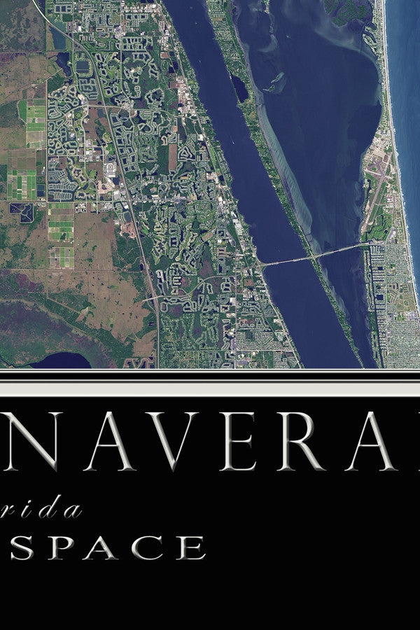 The Cape Canaveral Florida Satellite Poster Map