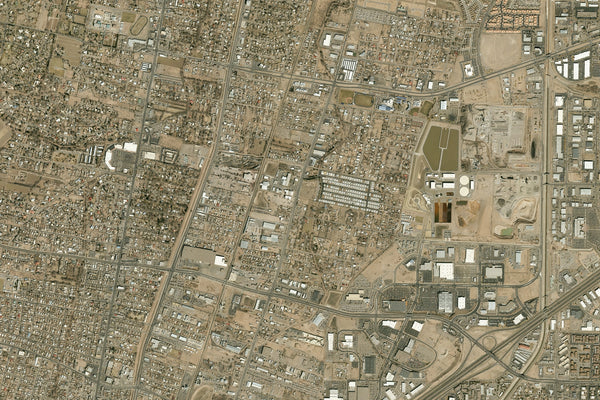 Albuquerque New Mexico From Space Satellite Poster Map