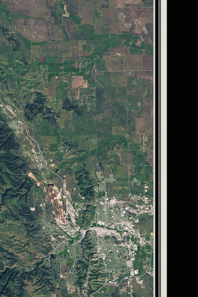 Black Hills National Forest South Dakota From Space Satellite Poster Map