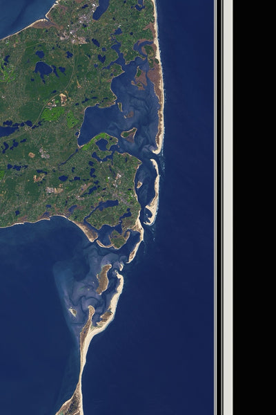 Cape Cod Massachusetts From Space Satellite Poster Map