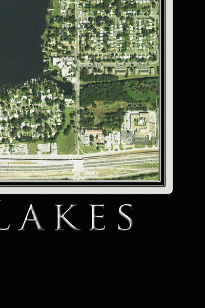 The Conway Chain Of Lakes Orlando Florida Satellite Poster Map