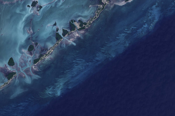Florida Keys From Space Satellite Poster Map