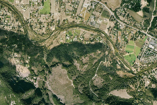 Carmel Valley California From Space Satellite Poster Map