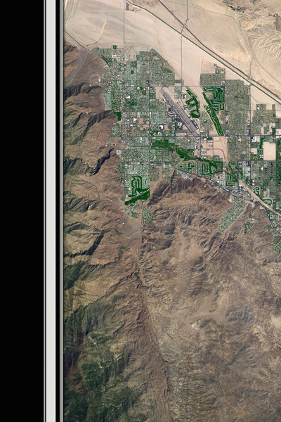Coachella Valley California From Space Satellite Poster Map