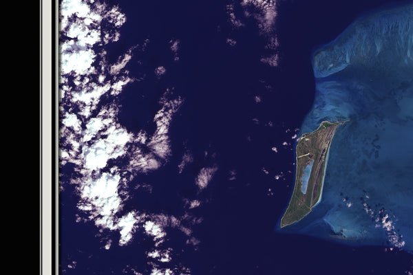 Caicos Islands Satellite Poster Map