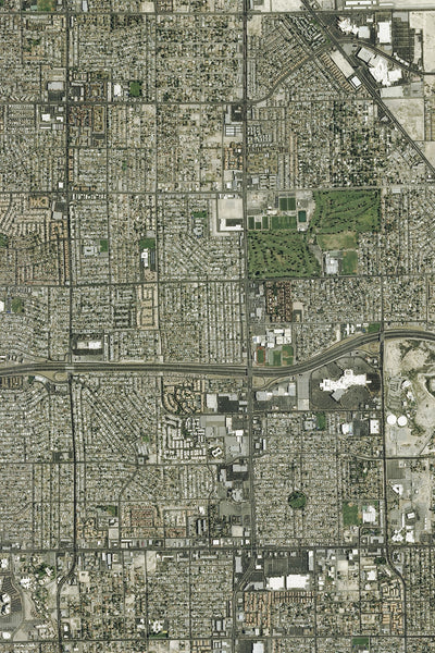 Las Vegas Nevada Satellite Poster Map