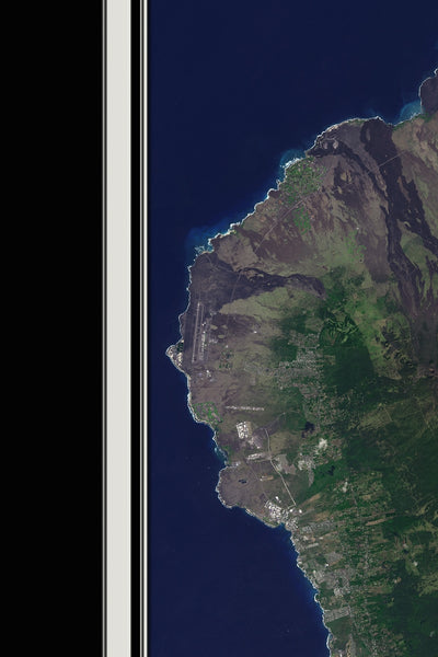 Hawaii - The Big Island From Space Satellite Poster Map