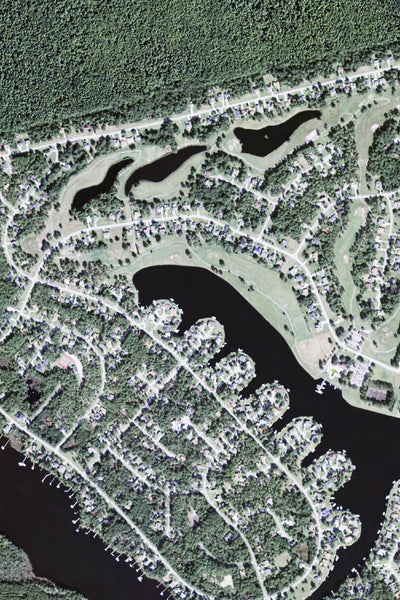 Fairfield Harbour North Carolina Satellite Poster Map