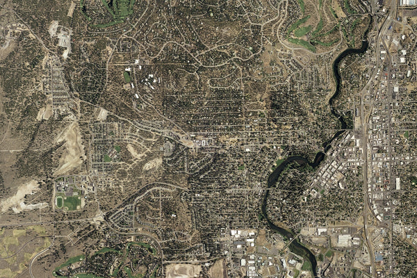 Bend Oregon From Space Satellite Poster Map